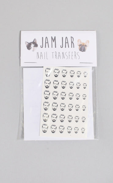 jam jar: nail transfers - gosling (black + white)