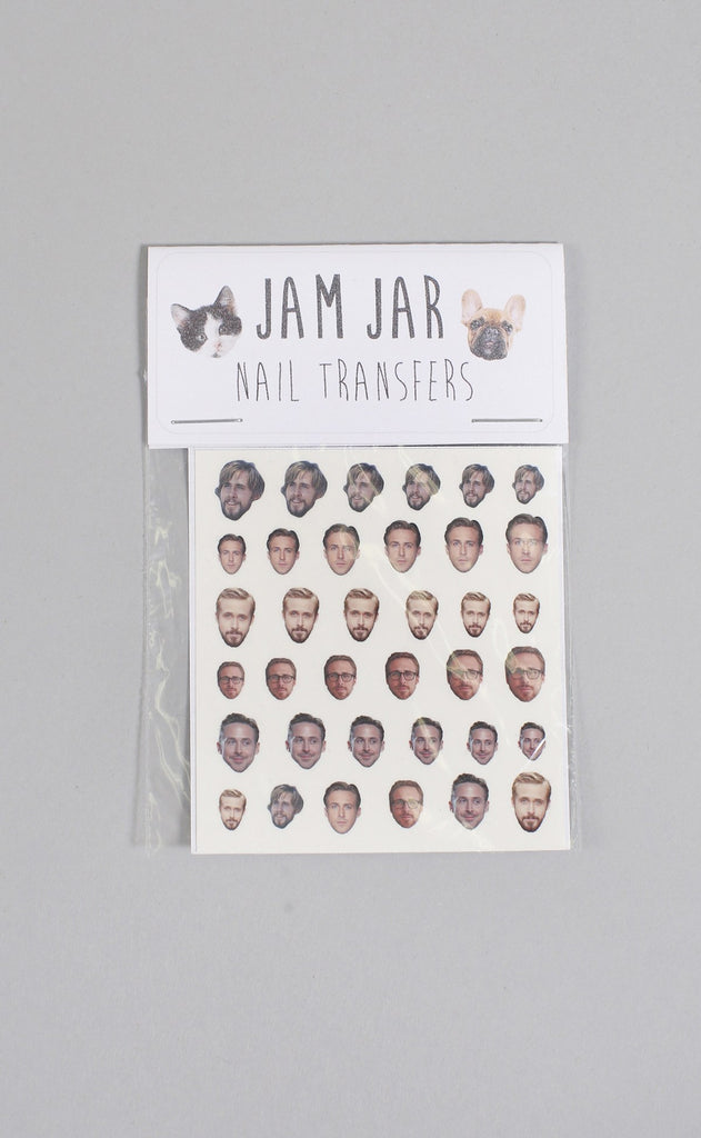 jam jar: nail transfers - gosling (mixed)