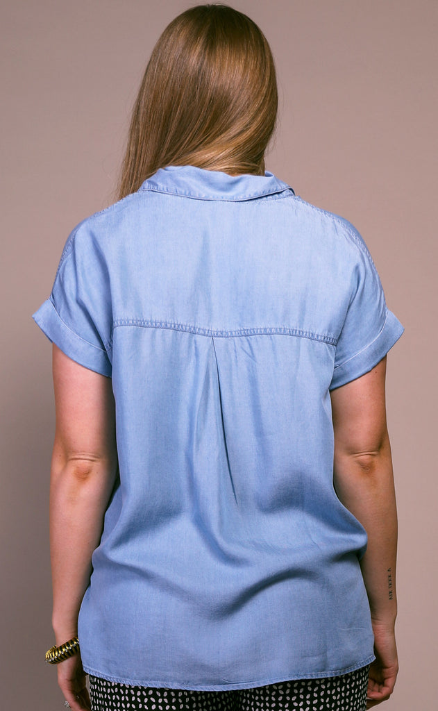 sail away chambray top