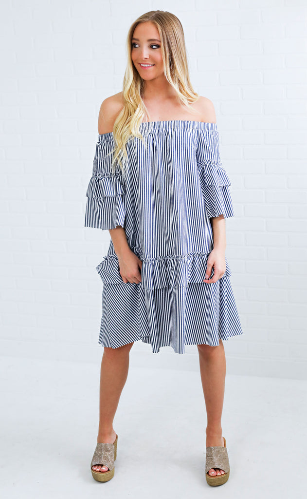 sand dollar striped dress