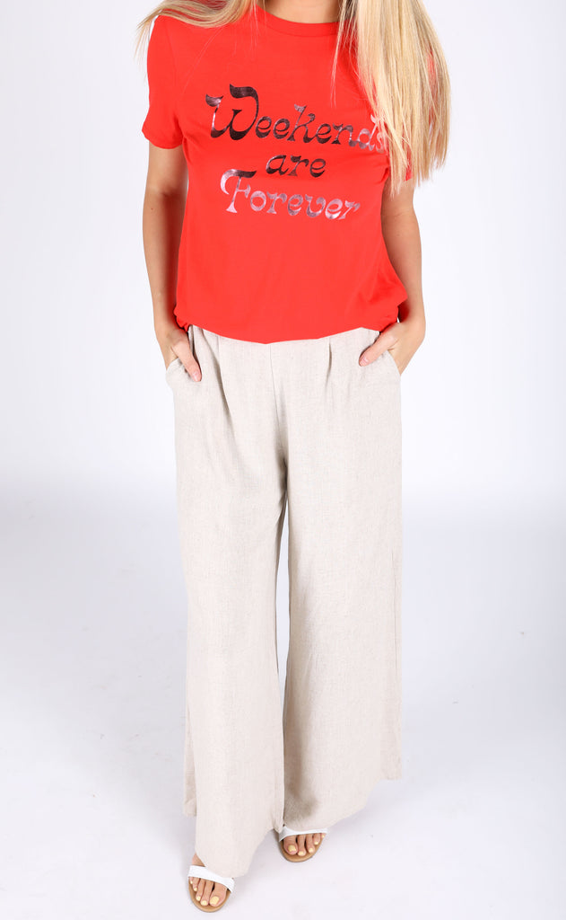 sandy beach linen pants