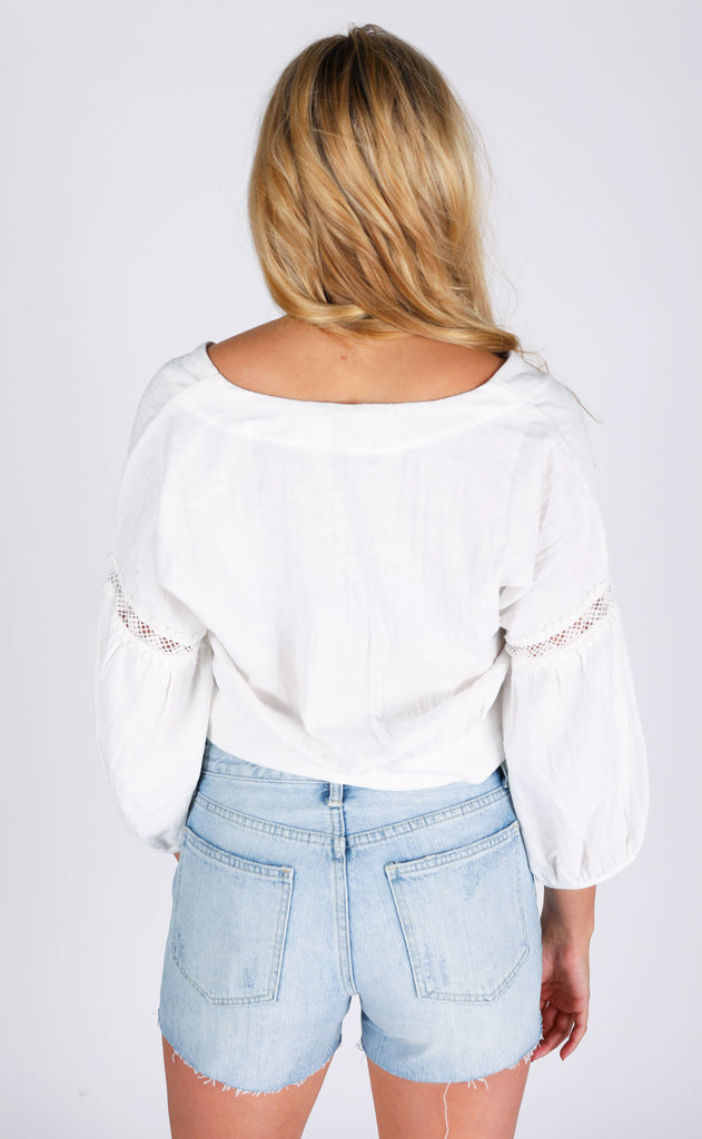 santa monica crop top - ivory
