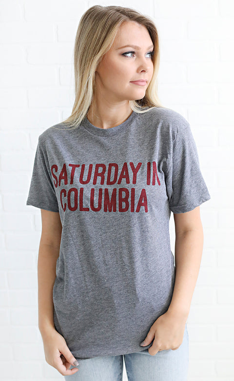 charlie southern: saturday in columbia t shirt - grey