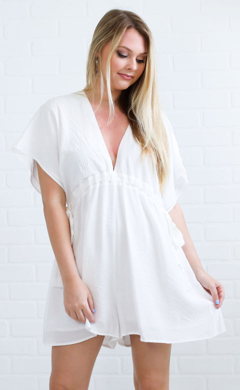 say yes flowy romper