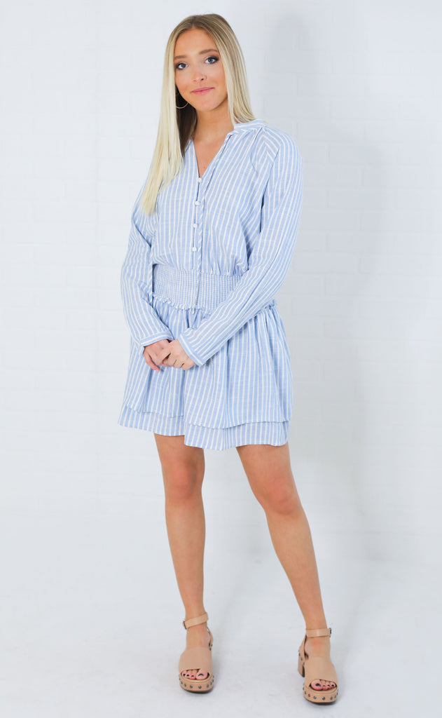 seaside linen dress