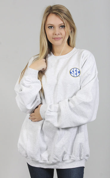 charlie southern: embroidered sec logo sweatshirt