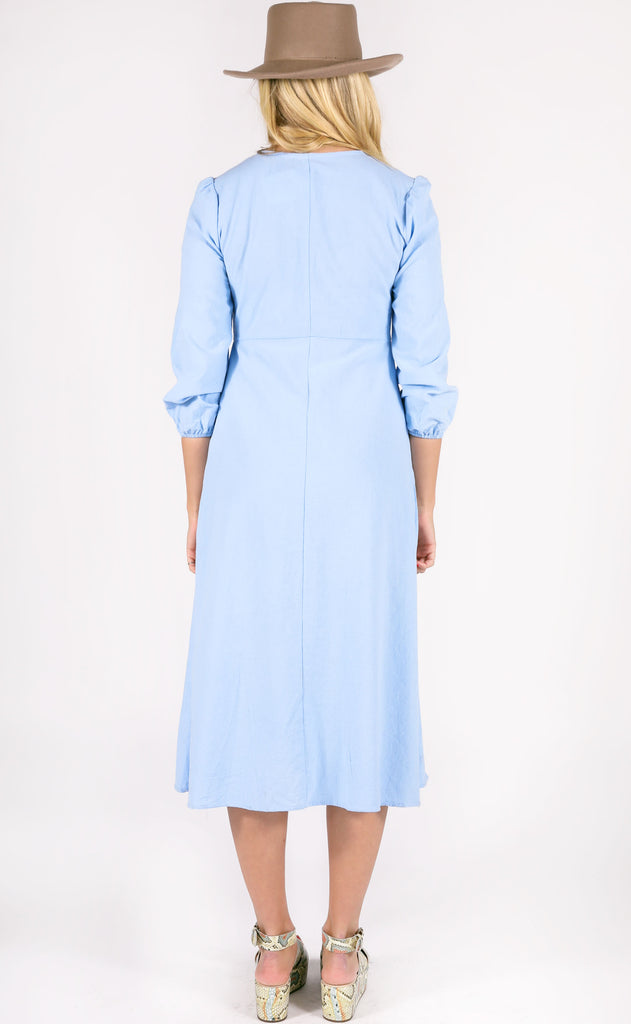 secret admirer midi dress - light blue