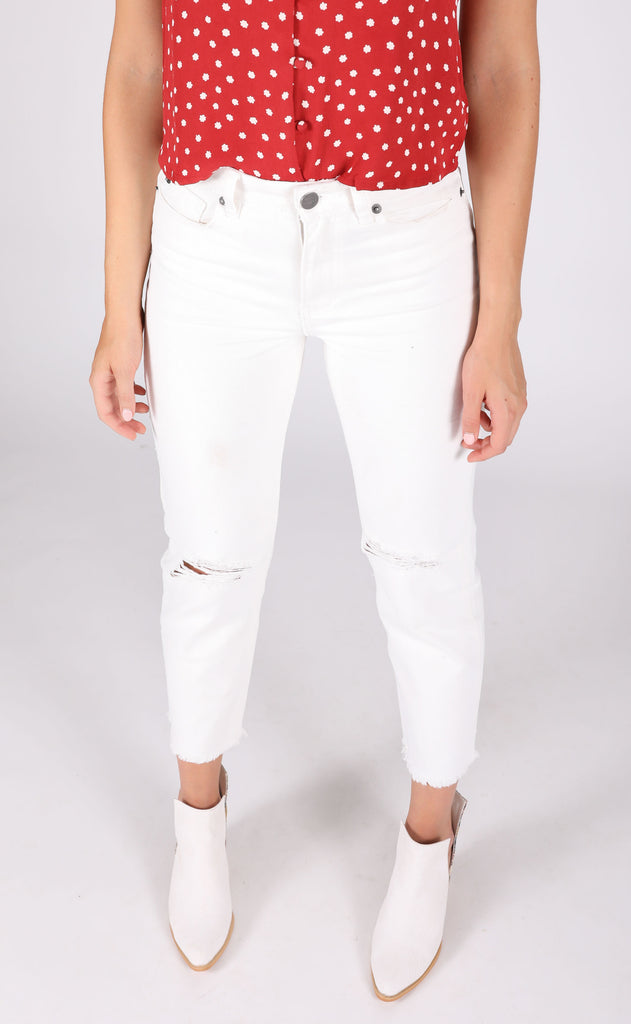 amuse society: selena denim pant - vintage white