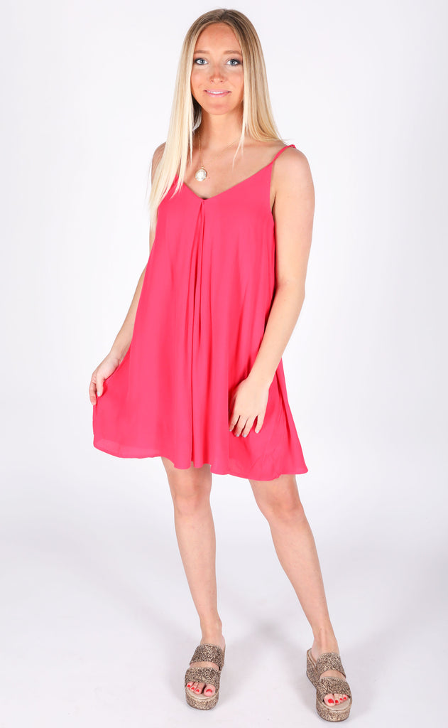 sensational swing dress - magenta