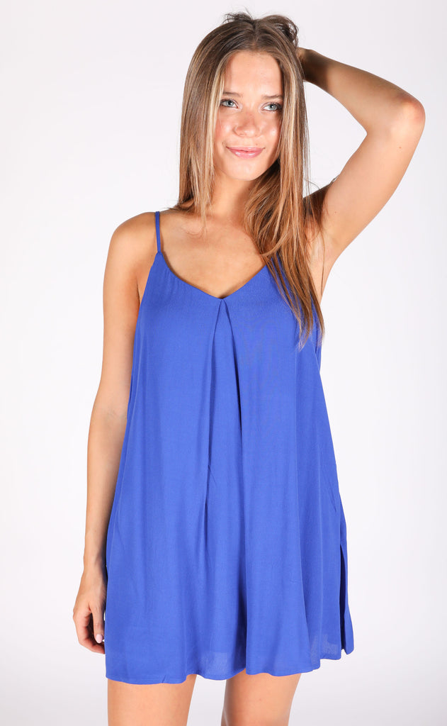 sensational swing dress - blue