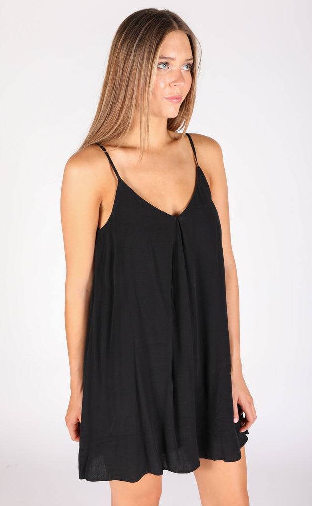 sensational swing dress - black
