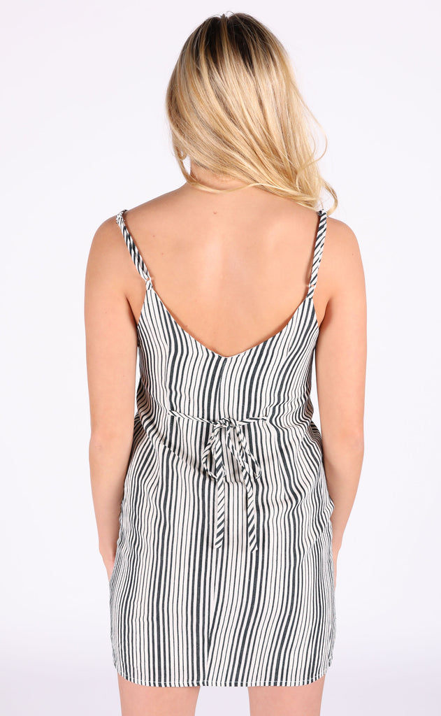 set 'em straight striped dress