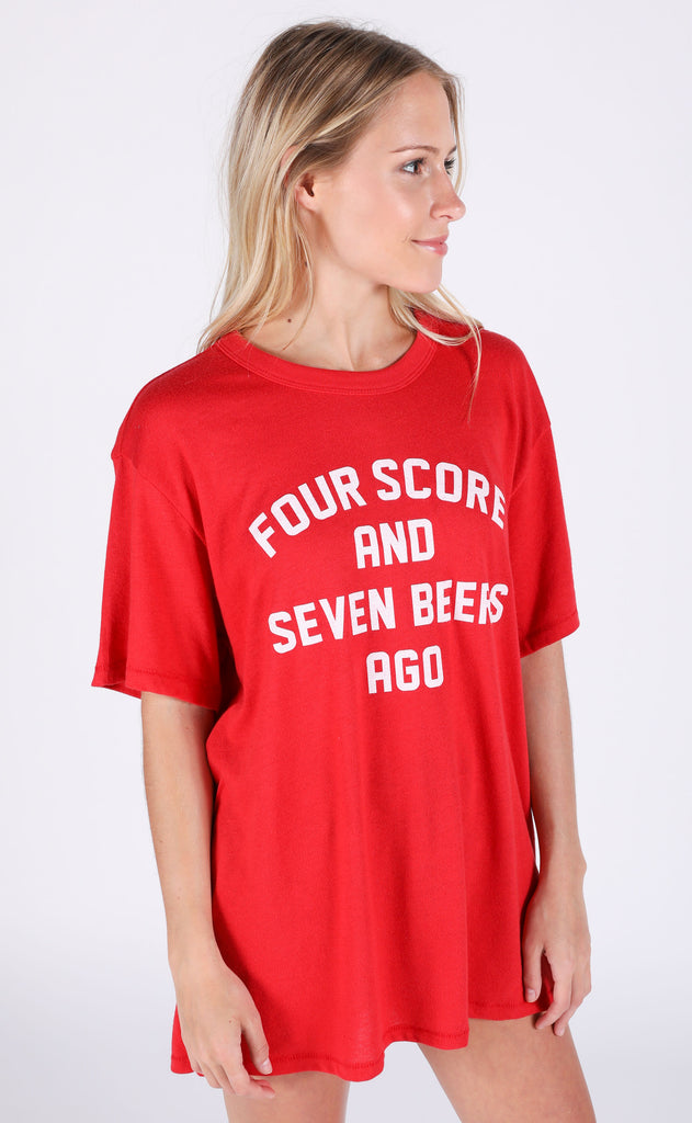 charlie southern: four score and seven beers ago t shirt