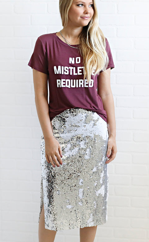 shine bright sequin skirt