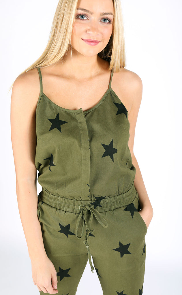 shining star printed jumpsuit
