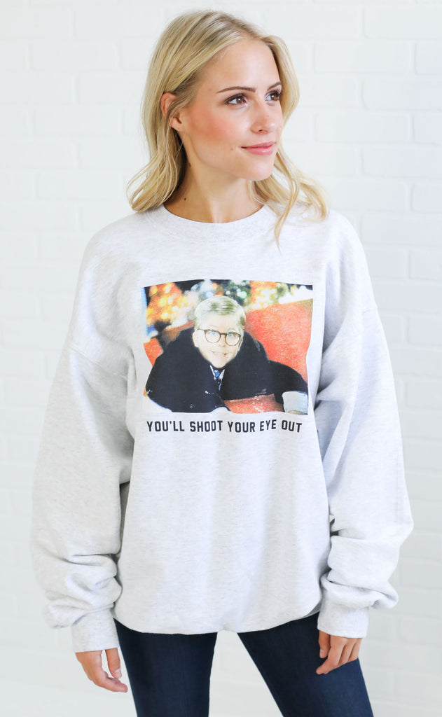 charlie southern: you'll shoot your eye out sweatshirt
