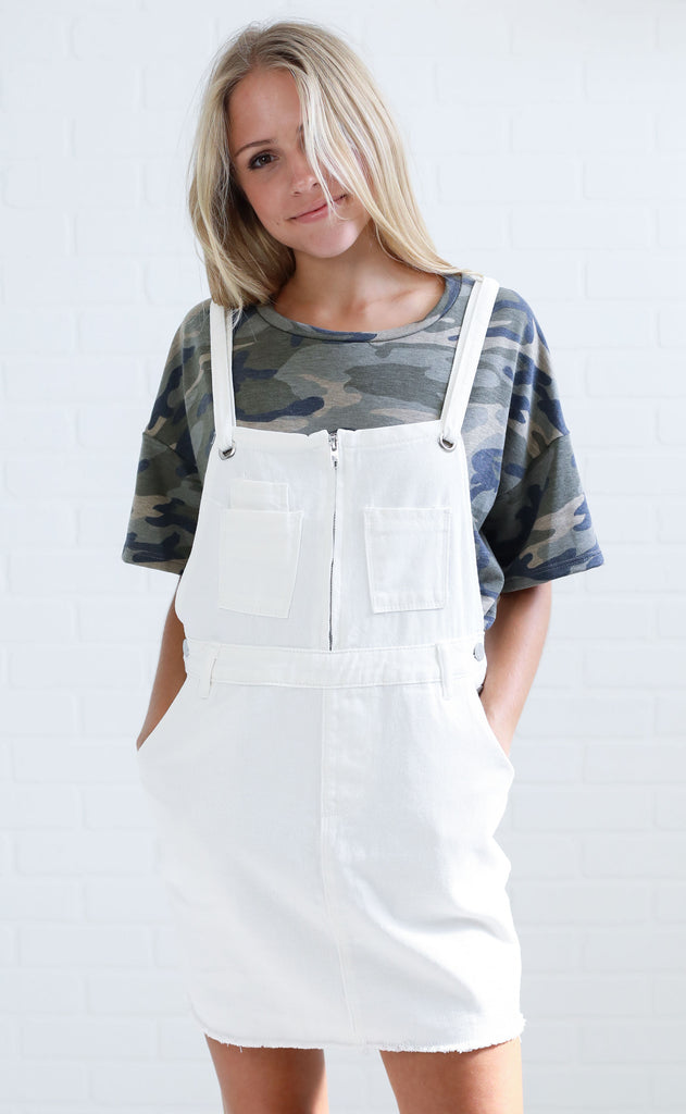 shore thing denim overalls