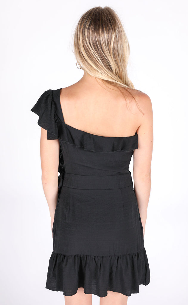 short 'n sweet one shoulder dress