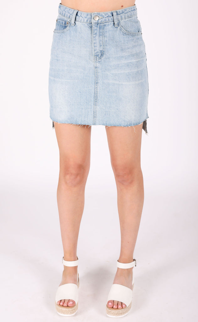 shortcut denim skirt
