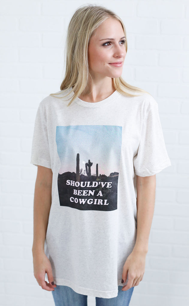 charlie southern: should've been a cowgirl t shirt