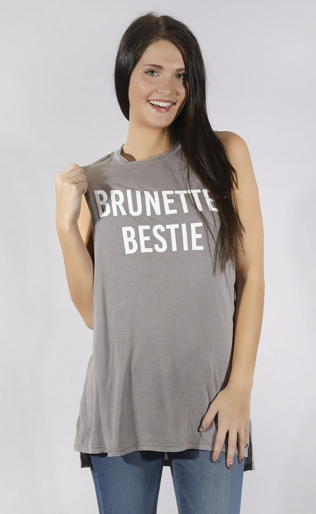 show me your mumu: andrew tunic - brunette bestie graphic