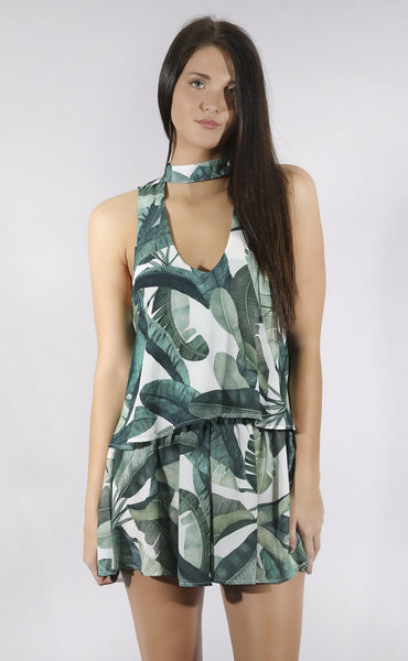 show me your mumu: casey collar top - banana leaf