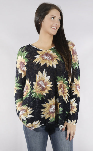 show me your mumu: overtop sweater - sunflower dreams knit