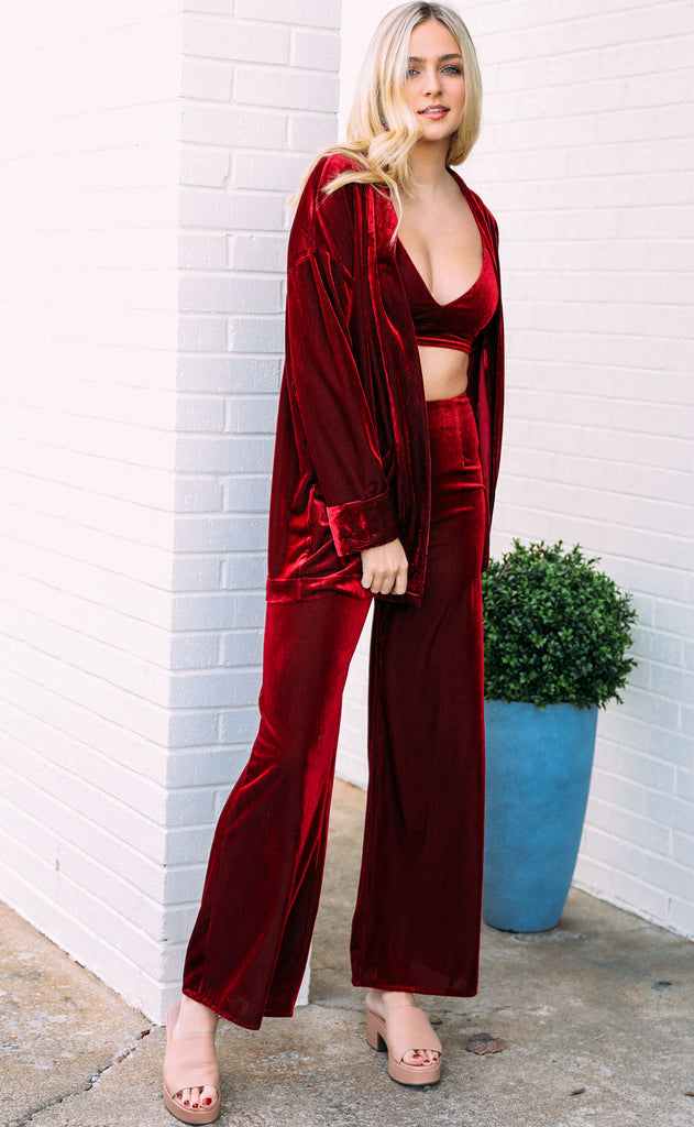 show stopper three piece set - burgundy