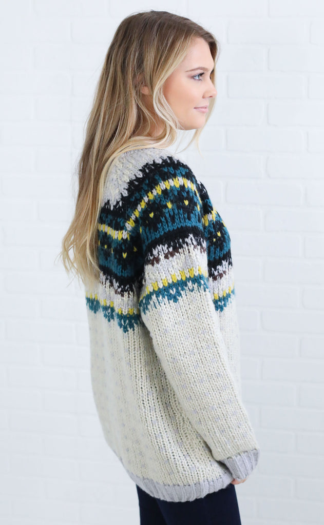 silver lining knit sweater