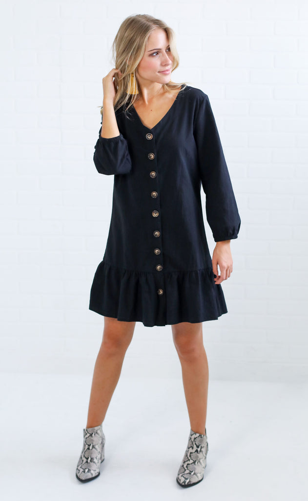 sipping cider button up dress