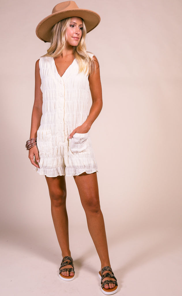 lucca: sireli button down romper