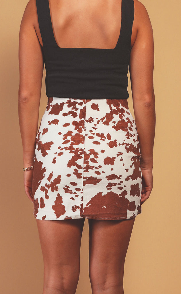 show me your mumu: roxanne mini skirt - holy cow