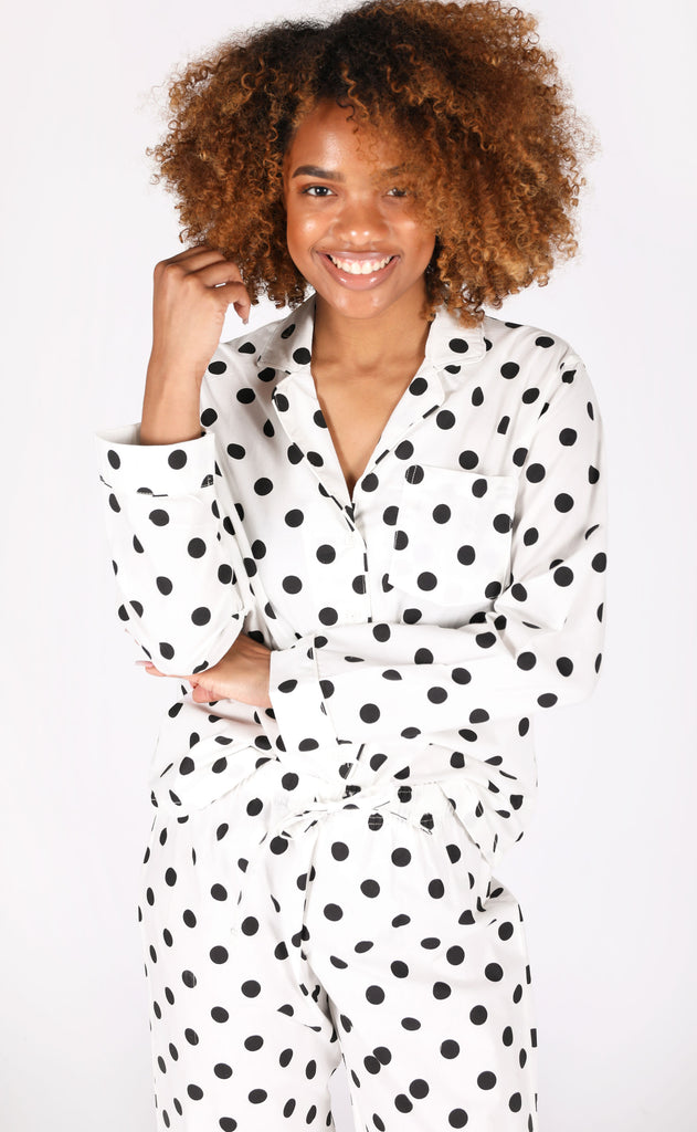 sleepy time pj set - polkadot