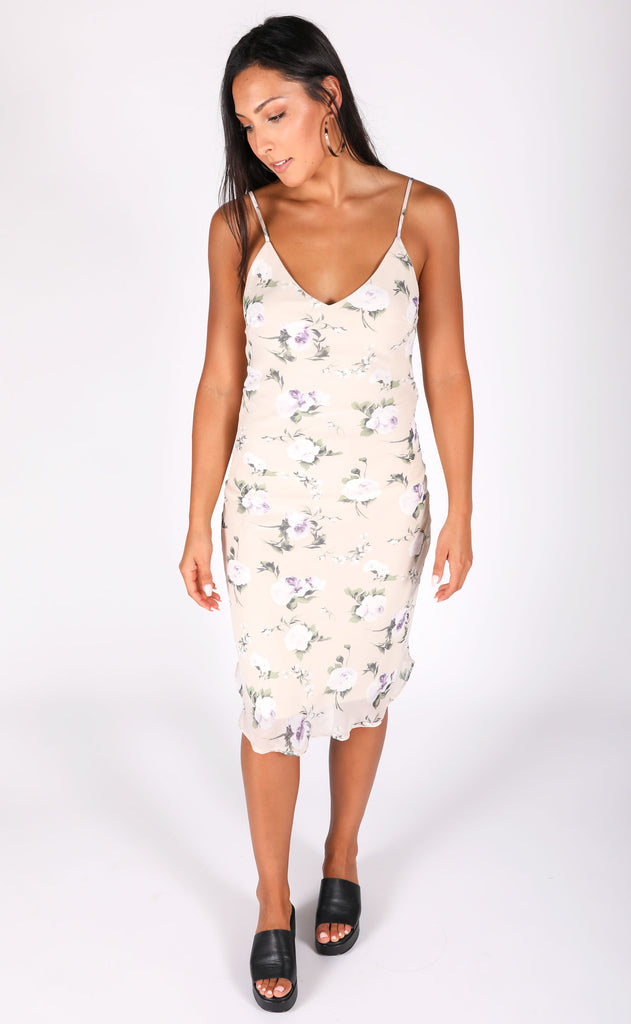 slip into this midi dress