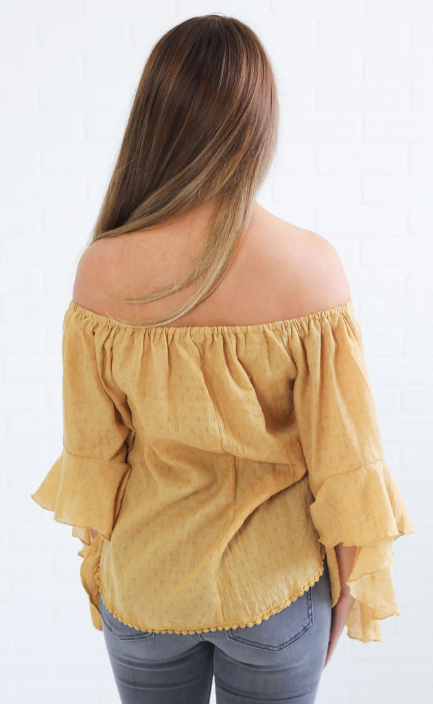 smock it to me off the shoulder top