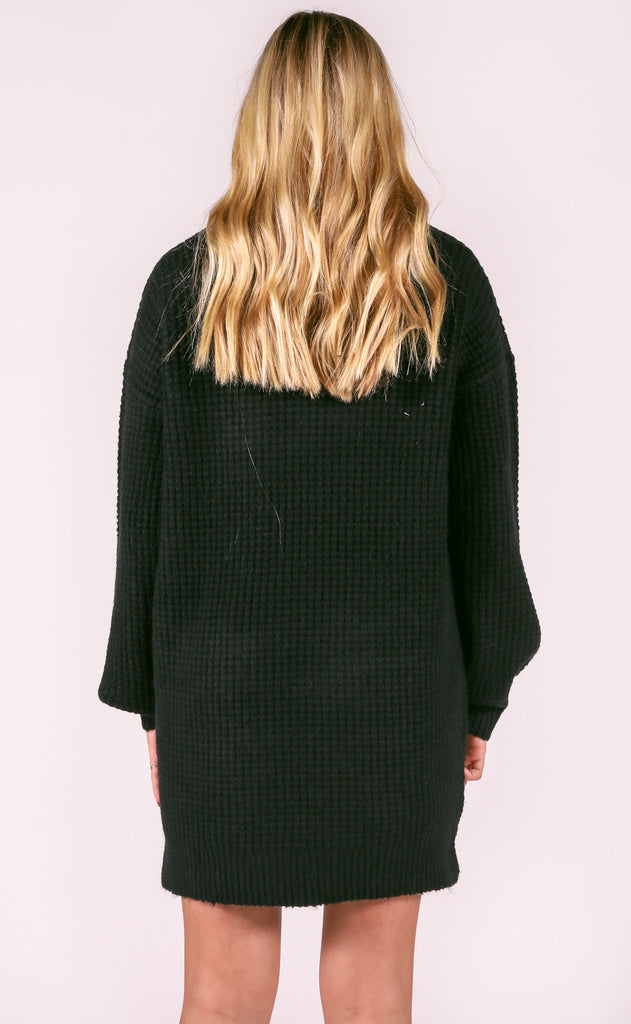 show me your mumu: chester sweater dress - black knit