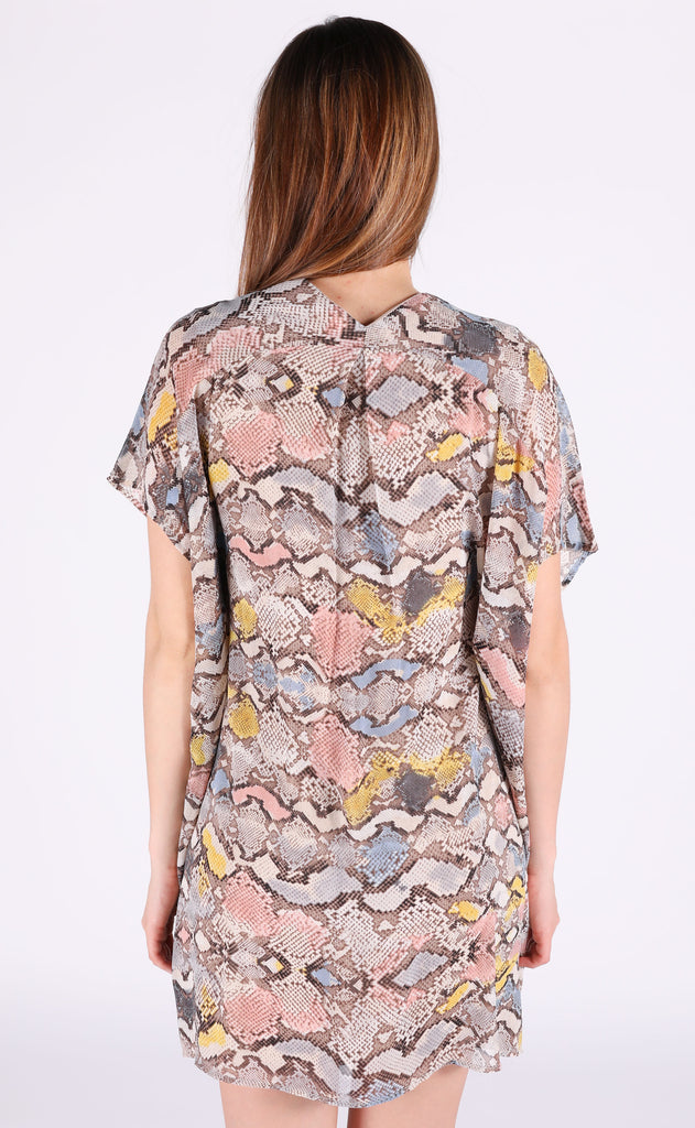 snake a move printed tunic