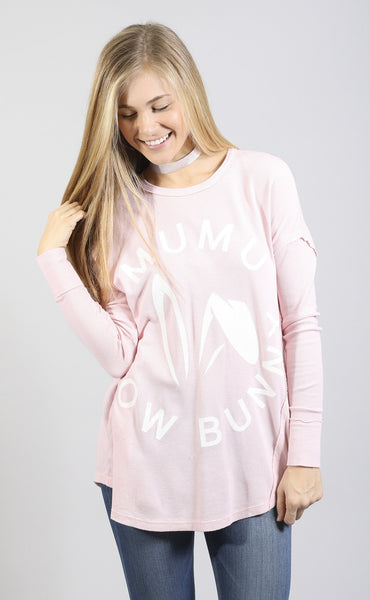show me your mumu: bosco ski top - snow bunny graphic