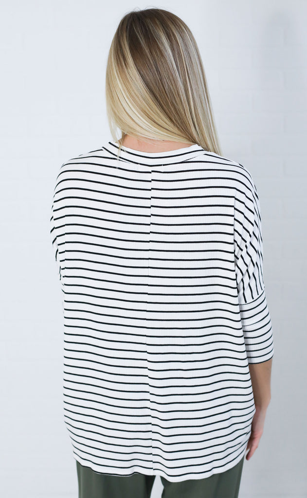 so chill striped top