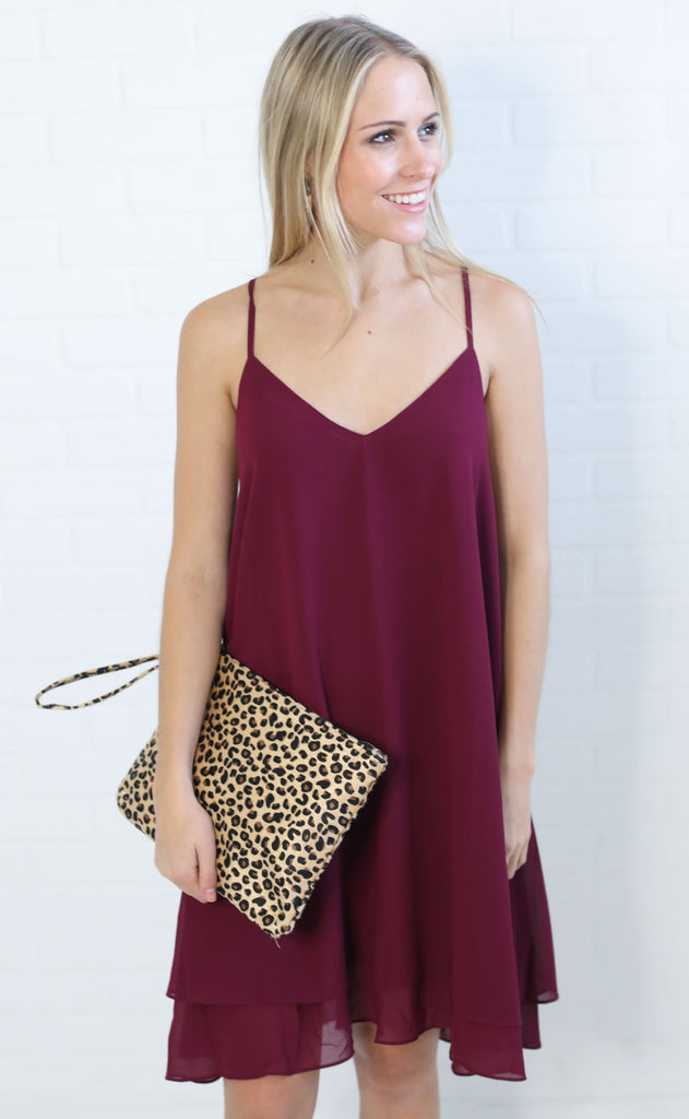 so cool basic dress - plum