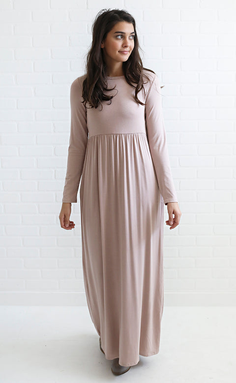 so good maxi dress - taupe