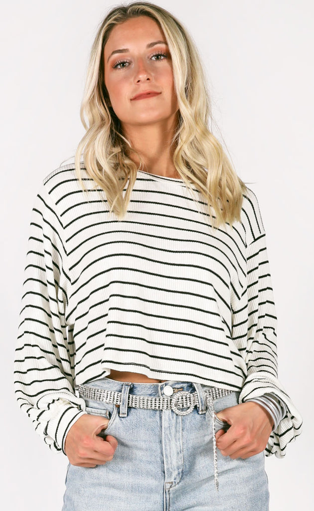 so good striped top