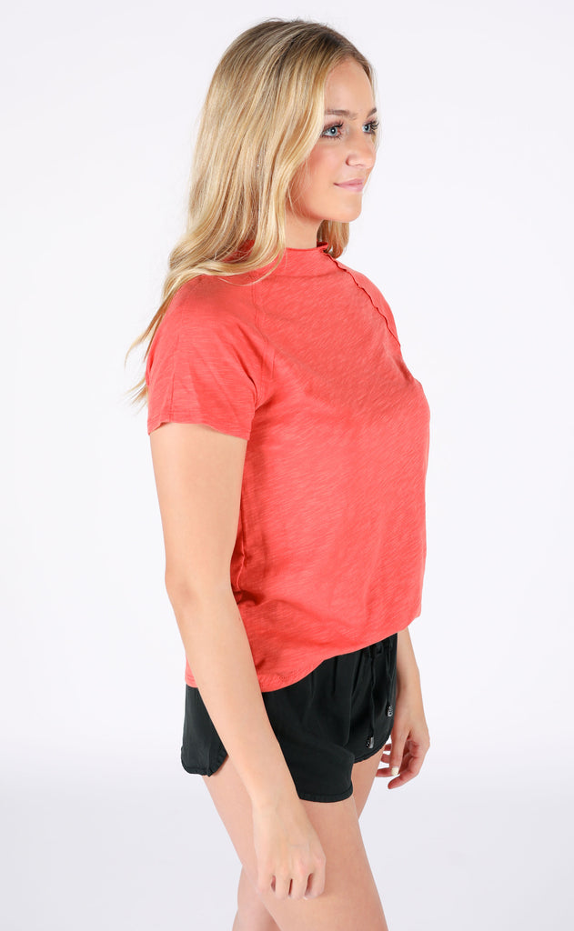 so perfect basic top - coral