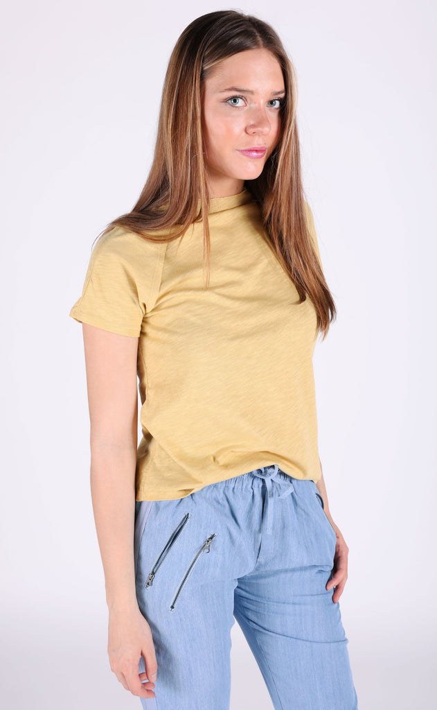 so perfect basic top - mustard