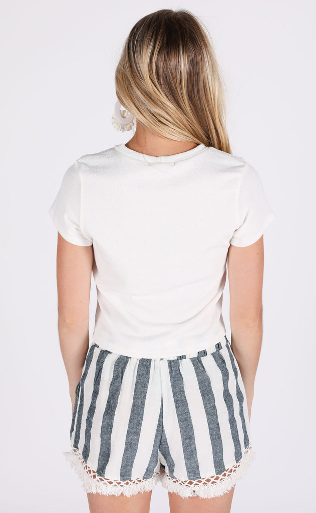 soft staple basic top - white