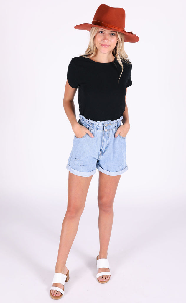 soft staple basic top - black