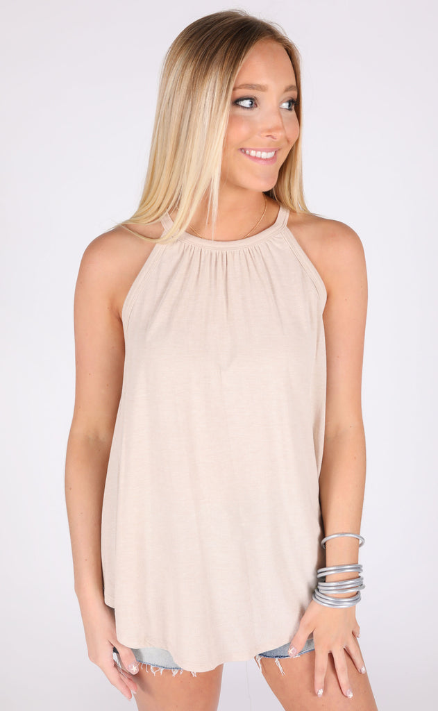 soft touch knit top - oatmeal