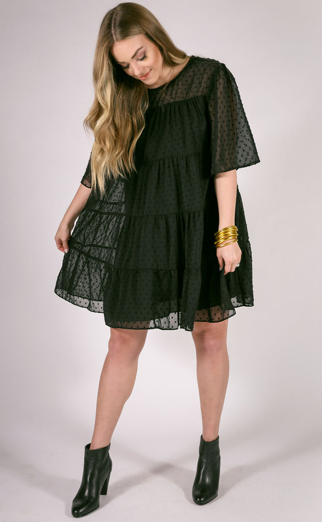 soiree textured dress