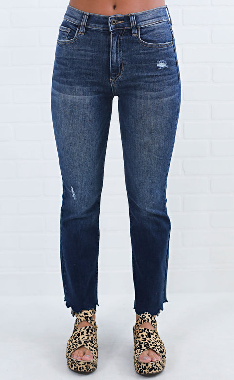 something blue scalloped jeans