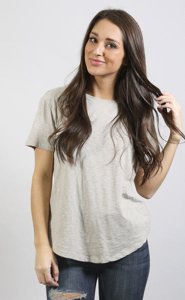 z supply: sophia crew neck t shirt - taupe